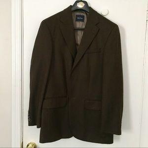 Men's suit jacket, Nautica, brown tweed, 38R